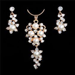 Luxusní sada šperků s umělými perličkami
