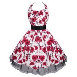 Dámské retro šaty s květinami