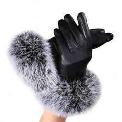 Dámské rukavice - koženkové