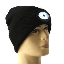 Pletená čepice s LED osvětlením - 4 barvy