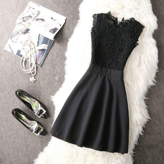 Krátké šaty s krajkou - 2 barvy 1