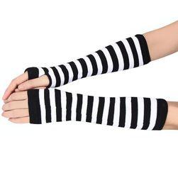 Mănuși cu dungi pentru femei