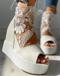 Дамски сандали на платформа TF6849