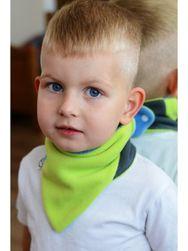 Dětský oboustranný fleecový nákrčník  modro-limetkový RW_nakrcnik-VG006