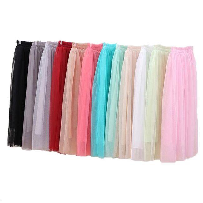 Hosszú tüll szoknya - különböző színekben