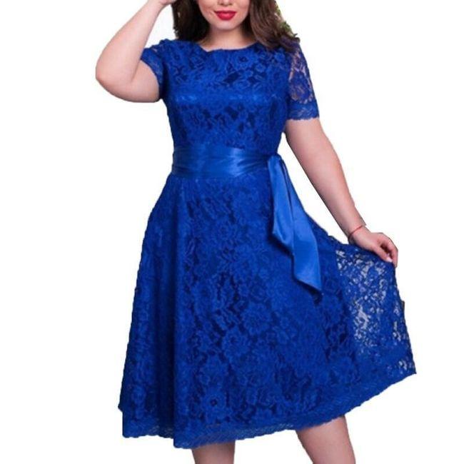 Гипюровое платье с поясом 1