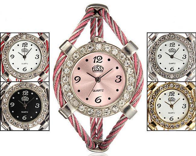 Dámské náramkové hodinky v originálním designu -  na výběr z 5 barevných variant 1