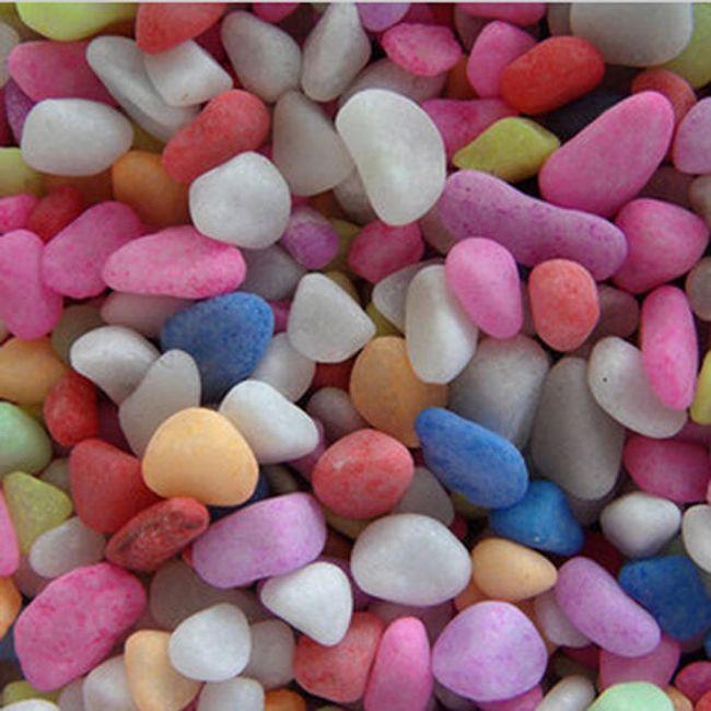 Barevné dekorativní kamínky do akvária 1