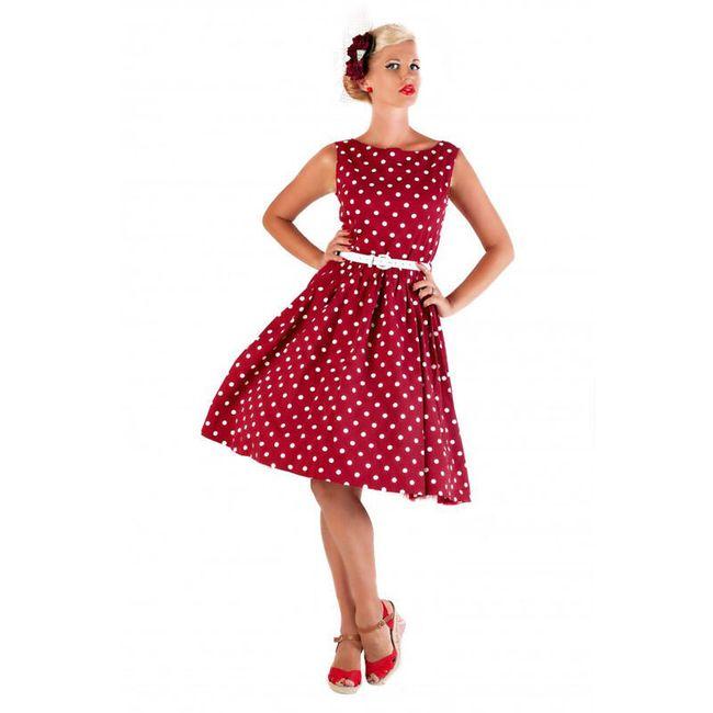 Retro haljina sa tačkama 1