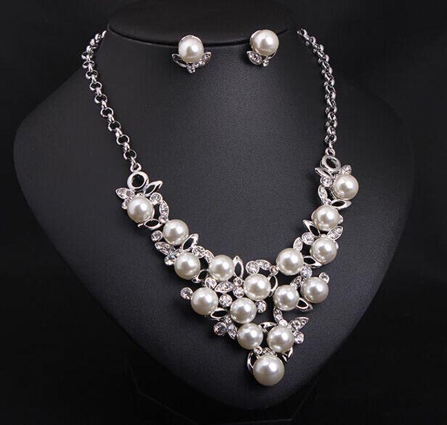 Sada šperků s perličkami - 2 barvy 1