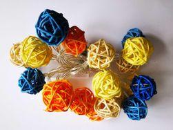 Dekorační svítící řetěz - Modrá SR_608010