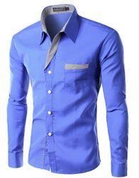 Męska koszula formalna z długim rękawem - 14 kolorów