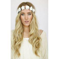 Čelenka do vlasů s květinami - 5 barev