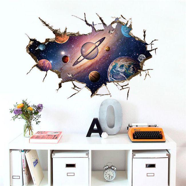 Vesmírná 3D samolepka - 3 motivy 1