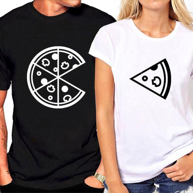 Póló pizzával párok számára
