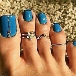 Set od 3 prstena na nogu
