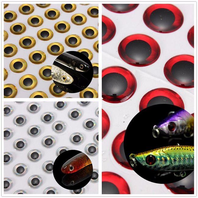 Samolepilne ribje 3D oči 100 kosov - 3 barve 1