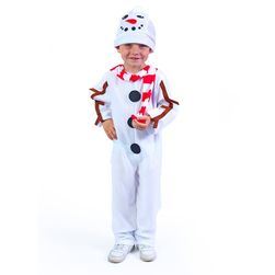 Costum om de zăpadă cu pălărie și eșarfă roșie pentru copii, (S) RZ_207806