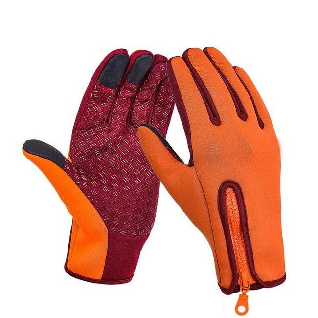 Fleecové lyžařské rukavice s možností ovládat dotykové displeje 1