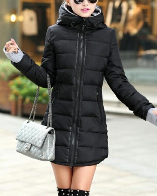 Prošívaná zimní bunda Pia - Černá - velikost č. S 1