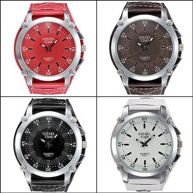 Stylové hodinky ve 4 barevných provedeních - unisex 1