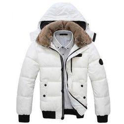 Pánská zimní bunda s kožíškem - 2 barvy
