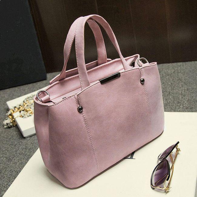 Dámská kabelka do ruky z umělé kůže - 3 barvy 1