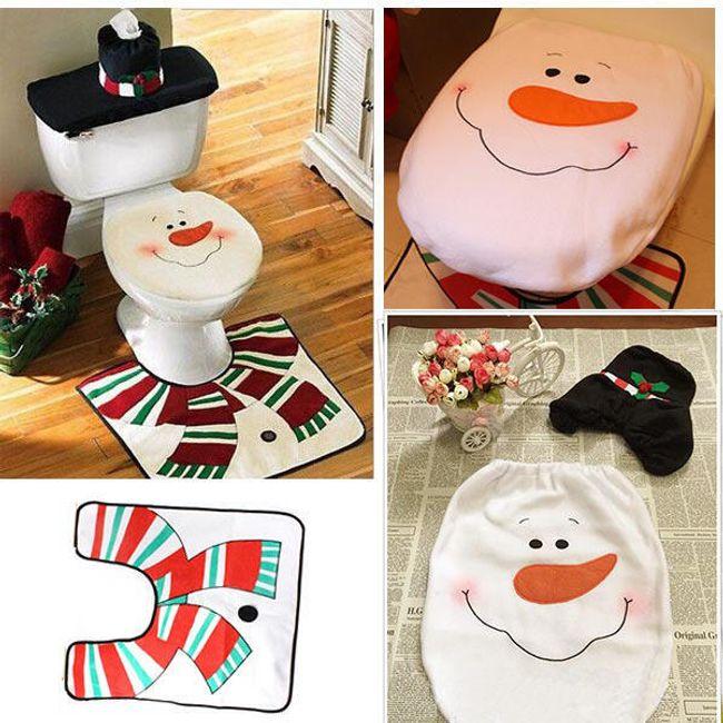 Božični toaletni set - Snežak - 3 kosi 1
