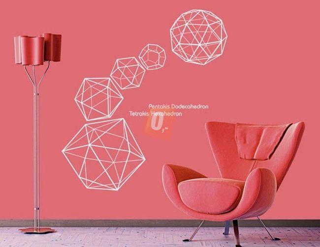 Samolepka na zeď - geometrické tvary 1