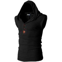 Pánské triko bez rukávů s kapucí - 8 barev