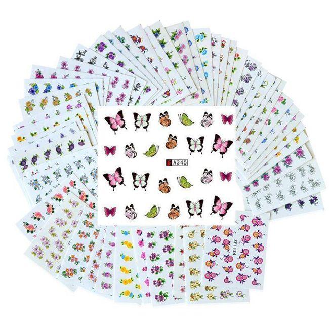 Nalepnice za nokte - 50 listova 1