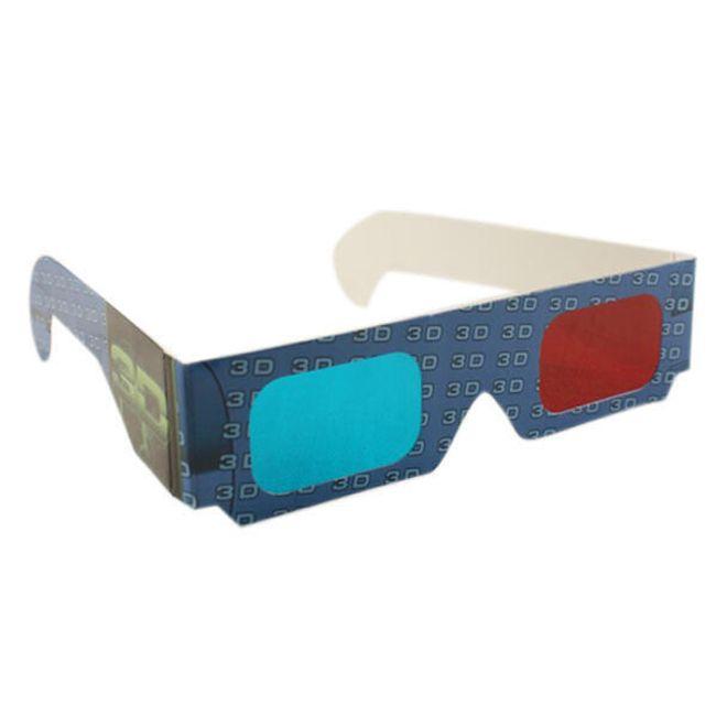 Papírové brýle pro 3D vidění - 2 kusy 1