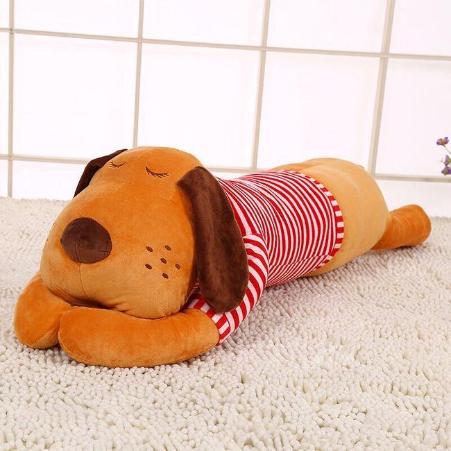Velký polštářek pro děti - Spící pejsek - 70 cm 1
