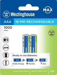 Ni-MH újratölthető akkumulátor MAX AAA NiMH 1000mAh 1.2V, buborékfólia 2db PD_1124030
