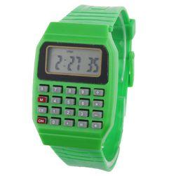 Gyermek digitális óra számológéppel - 6 szín