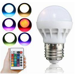 LED RGB žárovka RGB3W