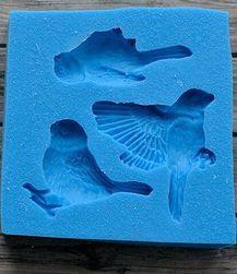 Szilikon forma madarakkal - véletlenszerű szín