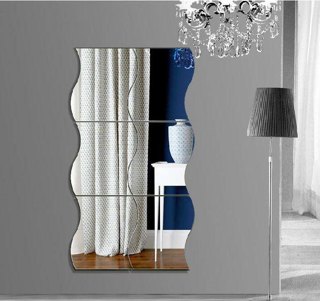 Nalepnica za zid - ogledalo na slaganje za enterijer 1