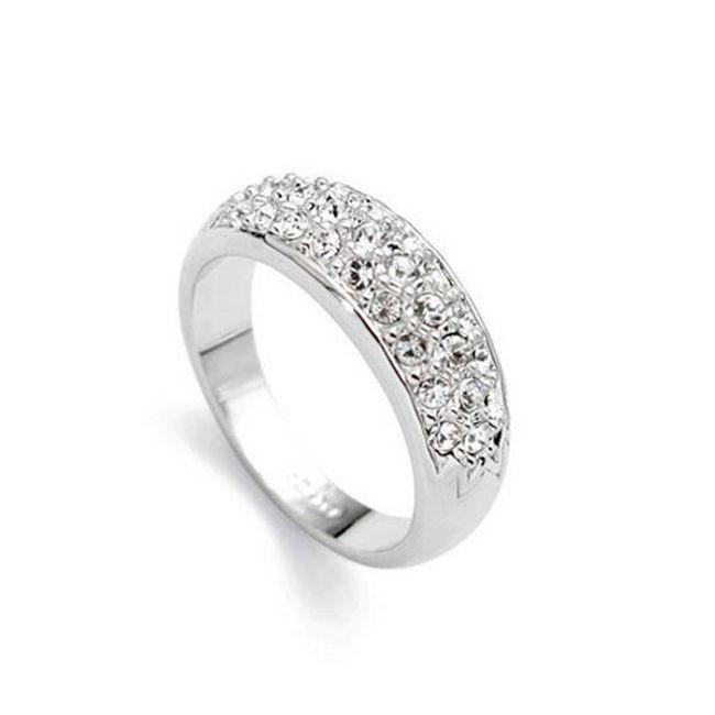 Elegancki pierścionek z kamykami 1