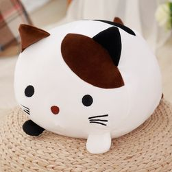 Плющена играчка в дизайн на пълно коте