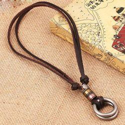 Smeđa ogrlica sa krugovima