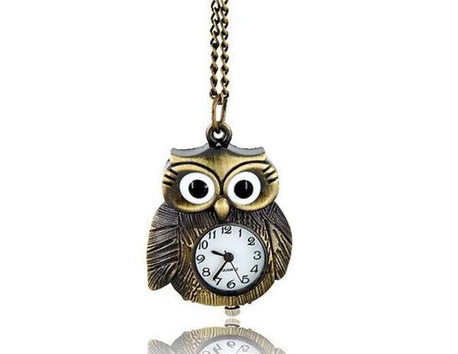 Wisiorek z zegarkiem w kształcie sowy 1