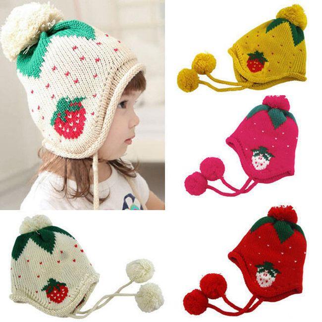 Dětská čepice s motivem jahody - v 5 barvách 1