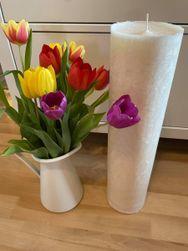 Olbrzymi świeczka walec - 48 cm biały IV_1615413964