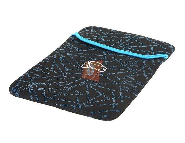 Pouzdro na notebook s motivem auta, modročerný 1