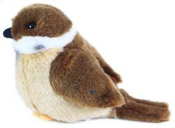 PLYŠ Ptáček vrabec stojící 13cm Eco-Friendly *PLYŠOVÉ HRAČKY* SR_711204