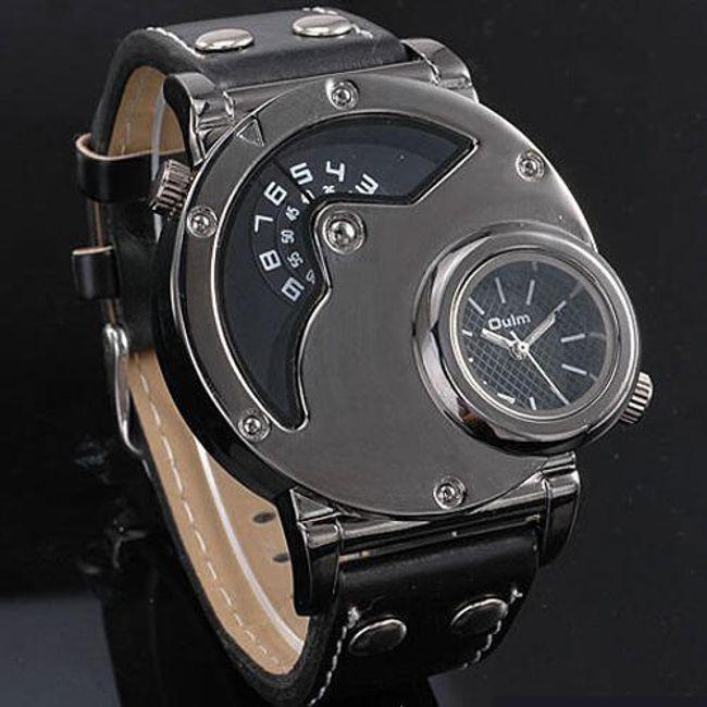 Męski wielofunkcyjny zegarek z dwiema tarczami 1