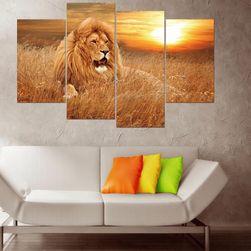 Изображение на лъв от четири части - без подложки и рамки
