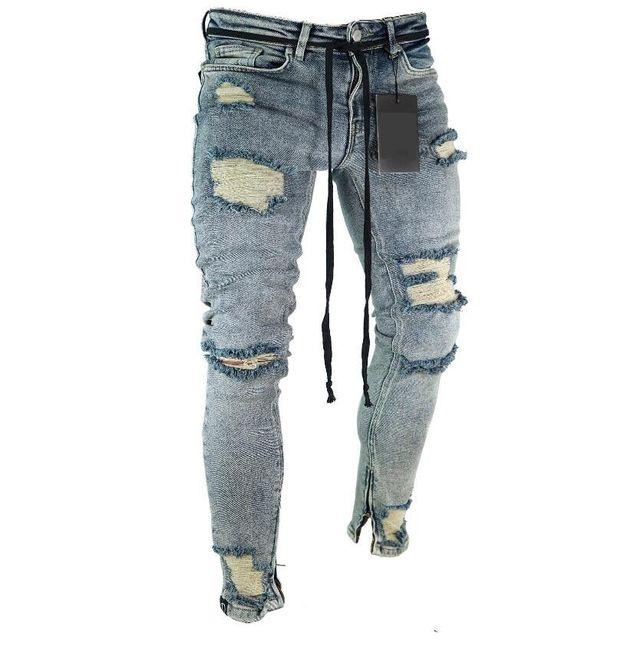 Pánske trhané džínsy 1
