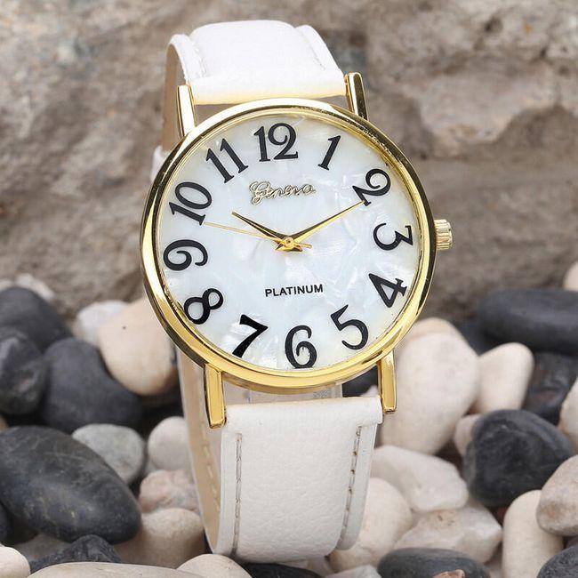 Ženska retro ura z velikimi številkami - 2 barvi 1
